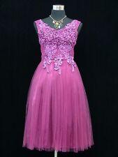 Cherlone Purple Prom Ball Evening Bridesmaid Wedding Formal Gown Dress Size 12