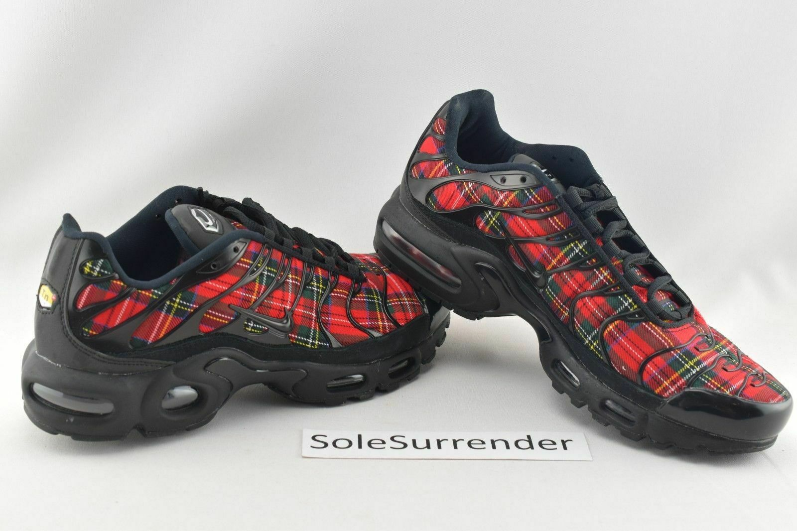 5d096b1587 Women's Nike Air Max Plus TN SE Tartan -CHOOSE SIZE- AV9955-001 Red Plaid  Yellow nodxlb4340-Athletic Shoes