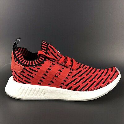 finest selection 78496 44256 Adidas NMD R2 PK Men's Sneaker Boost Primeknit Core Red Black Size 8 | eBay