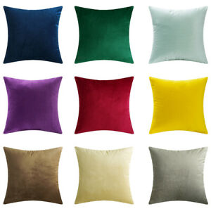 Details About Microfiber Velvet Throw Pillow Covers Decorative Cushion Pillowcases Solid Color