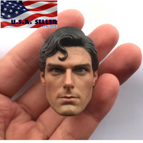 "1//6 Superman Christopher Reeve Head Sculpt For 12/"" Hot Toys PHICEN TBL Figure"