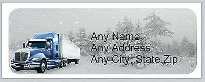 30 Personalized Address Labels SemiTruck Buy 3 get 1 free (ac 653)