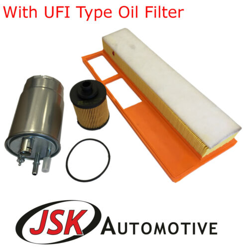 Oil Air /& Fuel Filters Ford KA Zip Service Kit UFI Type for Fiat 1.3 Diesel