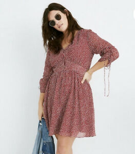 Madewell Starviolet Ditsy Flowers Mini Dress Size 12 Lined Floral NWT $128