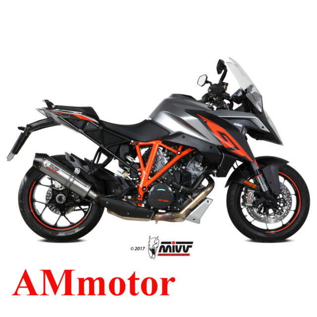 Mivv Ktm 1290 Superduke Gt 2017 Escape Moto Silenciador Oval Titanium Carbon Cap