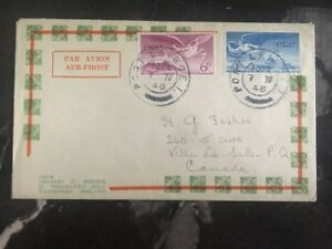 1948-Waterford-Ireland-First-Day-Cover-FDC-To-La-Salle-Canada