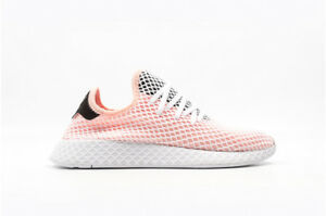 c33151689 NIB ADIDAS DEERUPT RUNNER SHOES CORE BLACK   CLOUD WHITE   PEACH ...