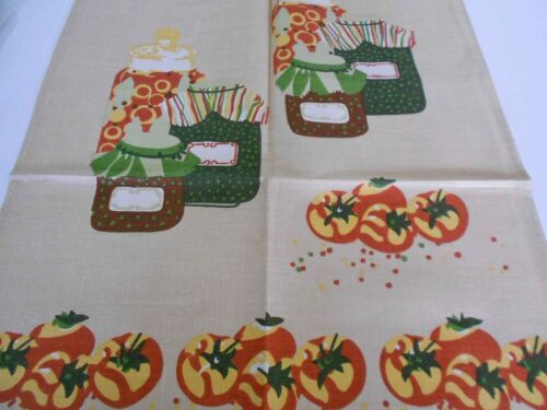Pure Irish Linen by MOYGASHEL BRAND NEW Vintage Teatowel souvenir Preserves