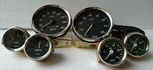 Smiths-Kit-Temp-Oil-Fuel-Amp-Gauge-Speedometer-CW-Tachometer-CW-Replica