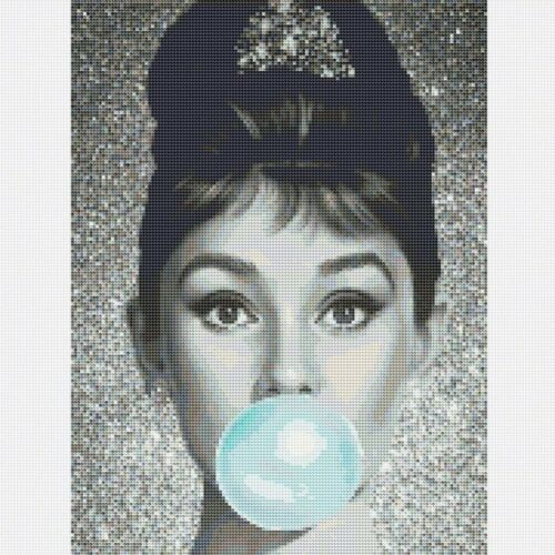 5D Diamond Painting Full Drill Embroidery Cross Stitch Kits Audrey Hepburn Decor