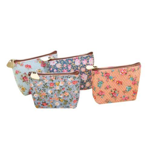 Girls Fashion Elegant Zipper Wallet Coin Bag Floral Print Purse Card Holder