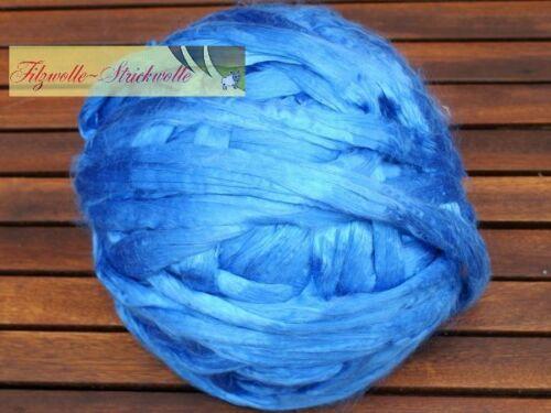 Maulbeerseide blau 20g
