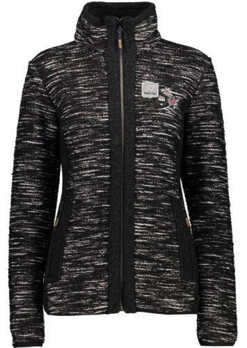 CMP Damen Jacke 3M35376 U973 schwarz melange Fleecejacke Damen// Strickfleeceja