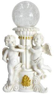 Gardenwize Jardin Extérieur Grave Angelot Cherubin Statue Ornement Avec Lampe Solaire-afficher Le Titre D'origine Sans Retour