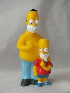 Vintage The Simpson's Shaving HOMER & BART Euromark FOX Figurine 1997 Rare