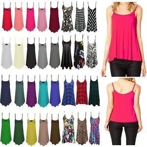 Ladies-Womens-New-Plain-Printed-Swing-Cami-Vest-Sleeveless-Top-Strappy-Plus-Size
