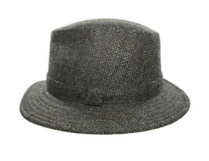 bd453cd1d2f7e New Fedora Hat for Men 100% Wool Black Made in Ireland John Hanly
