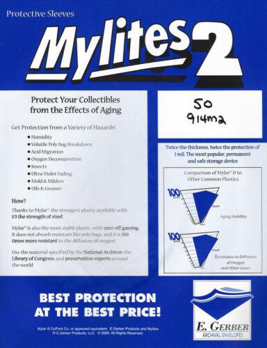 = BCW 100 GERBER MYLITES 2; 2-Mil Graded Mylar CGC PGX Comics 914M2