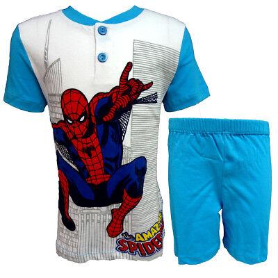 Pigiama Bambino Corto M/m Cotone Spiderman Marvel Nuova Collezione Art. Mv16123