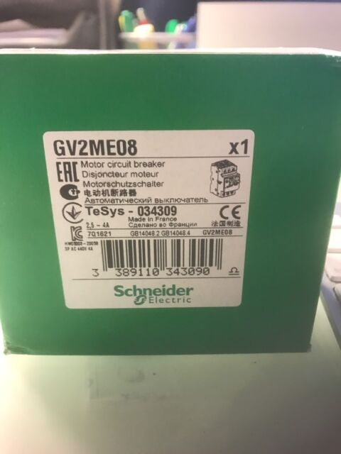 GV2ME08   SCHNEIDER  STARTER   AUTHENTIC       USA STOCK