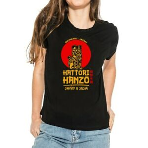 Japan-hattori-hanzo-Sword-a-Sushi-Funny-Women-039-s-T-Shirts-Ringer-Short-Sleeve-Tee