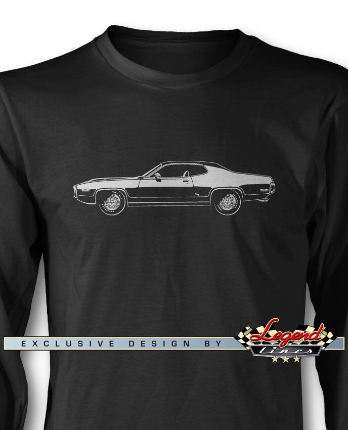 1972 Plymouth Road Runner Coupe Long Sleeves T-Shirt - Multiple colors and Sizes