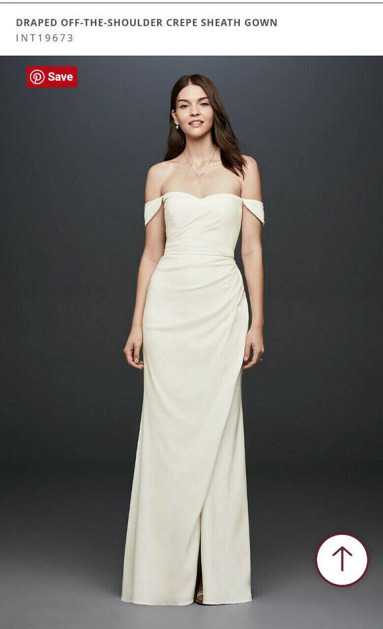 davids bridal wedding dress size 10