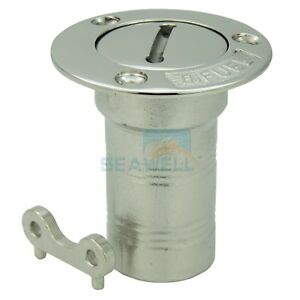 "1-1//2/"" Stainless Steel BOAT DECK FILLER-Gas-Tank Deck Fill Cap"