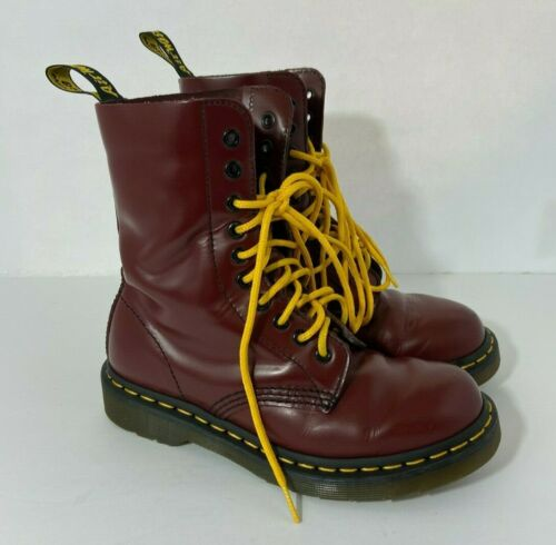 Dr. Doc Martens Pascal Red Leather Boots Size 5