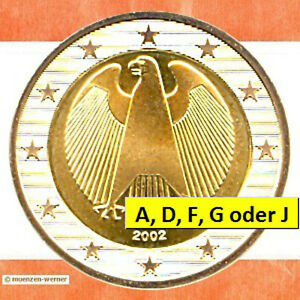 Pièces Rfa 2 Euro Pièce De Monnaie 2002 Fédéral Aigle Kursmünze Ebay