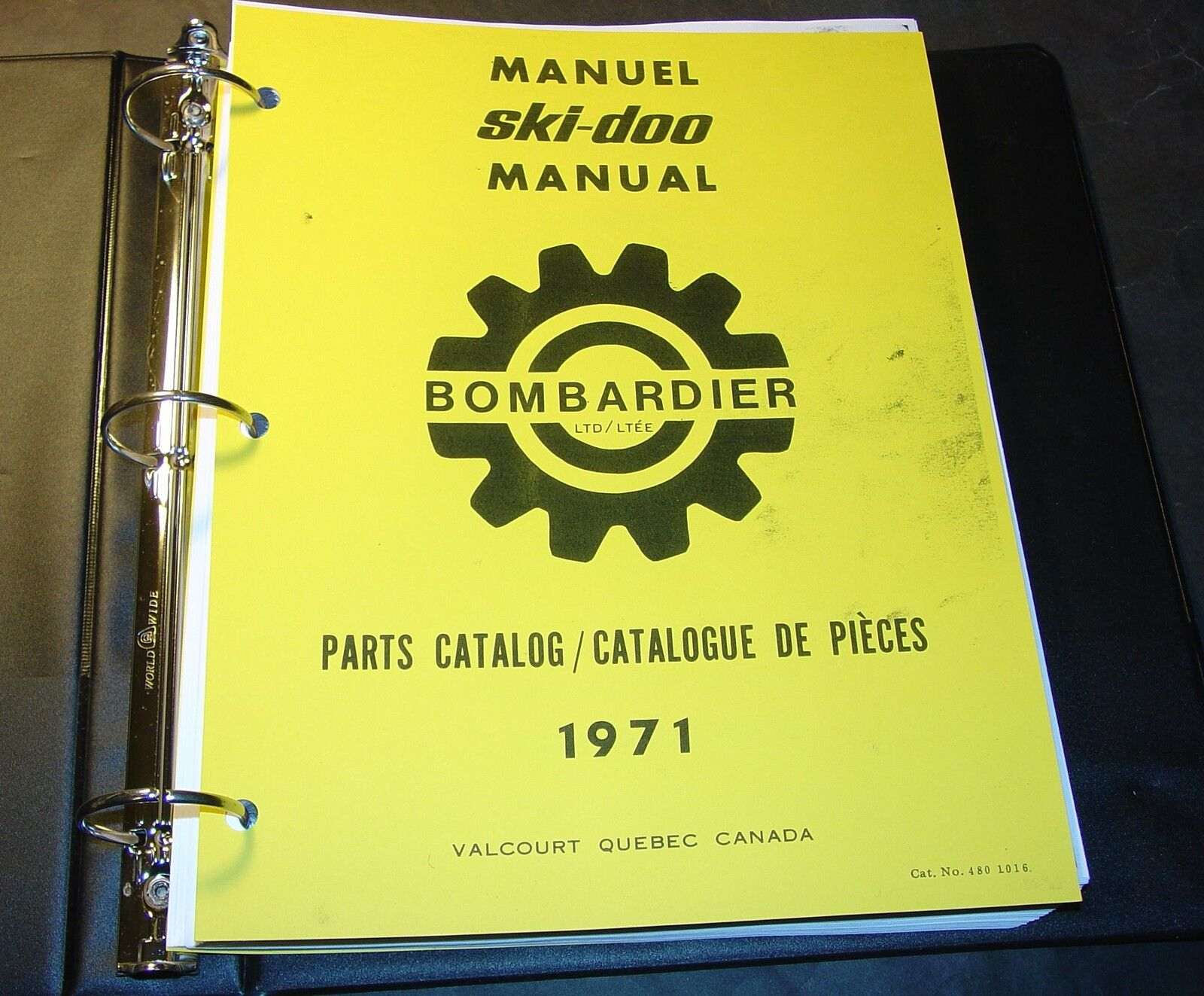 1971 SKI-DOO T'NT, OLYMPIQUE, NORDIC,  BLIZZARD PARTS MANUAL SNOWMOBILE