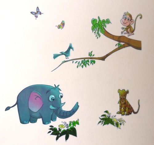 Nursery Childrens Kids Baby Girls Boys Jungle Animals Tree Wall Stickers Decals