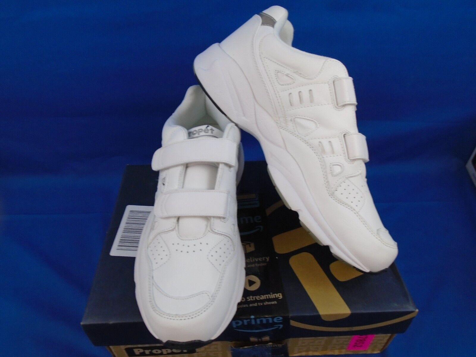 Uomini propet stabilità bianco walker cinghia m2035 scarpe bianco stabilità dimensioni 11,5 b (n) 9dda4a