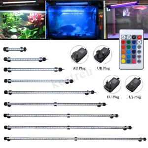 Provided 46cm 5050 Rgb Led Aquarium Light Submersible Air Bubble Lamp Light For Fish Tank Accessory With Remote Control Waterproof Wide Varieties Lights & Lighting
