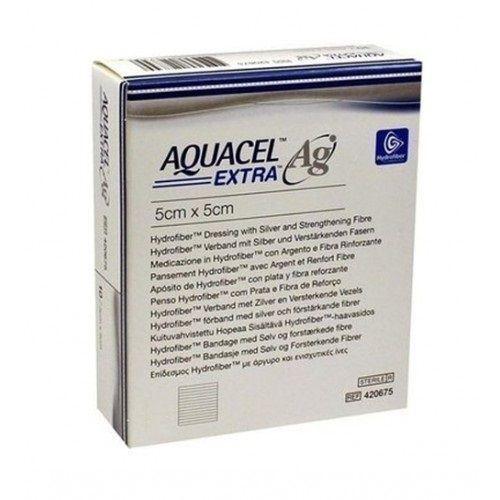 Aquacel Ag Extra Wound Dressing 5cm x 5cm (x10)
