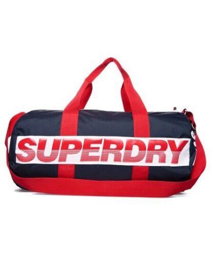 Bnwt International Bag Barrel optique Superdry Marine rouge 4YBqY