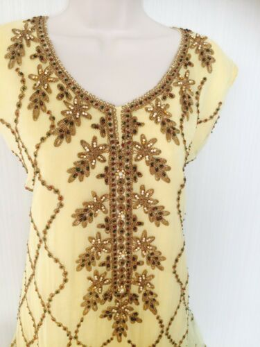 giallo Abito Wedding pantaloni Ultima Wear tendenza Pakistani corto Asian oro Party wIqAAv