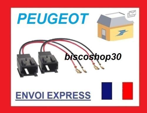 CONNECTEURS FICHES ENCEINTES HAUT-PARLEURS POUR PEUGEOT 406 PHASE 2 99+