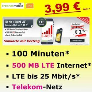 Sim Karte Only Handyvertrag 3,99 Monat 100 Minuten 500 MB ...