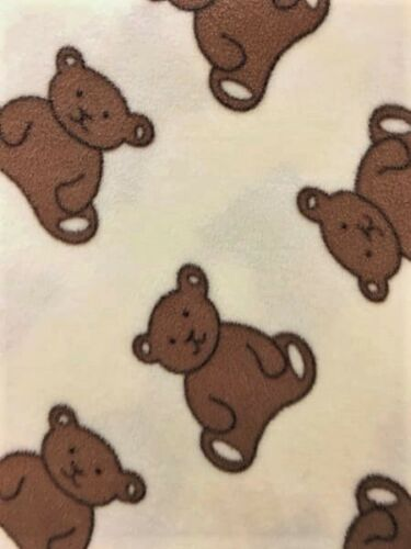 Teddy Bear Prints Polar Fleece Anti Pill Washable Soft Fabric