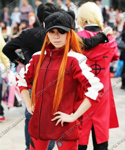 Anime Evangelion Asuka Langley Soryu Japan Anime Jacket Hoodie Coat cos