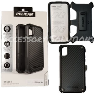 best service 114a0 1c81f Details about Pelican Shield Apple iPhone XR Shield Case Cover W/ Kevlar  Brand fibers, Black