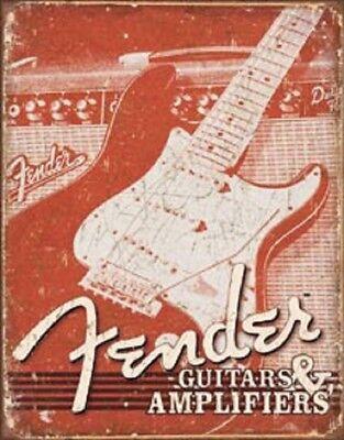Metal Tin Sign round fender guitars decor Bar Pub Retro Poster 30cm diameter