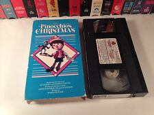 Pinocchio's Christmas Rare Family TV Special VHS 1980 Rankin Bass Stop Motion