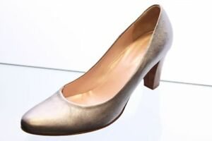 Lilian-Pumps-silber-Metall-Leder-Gr-39-UK-6