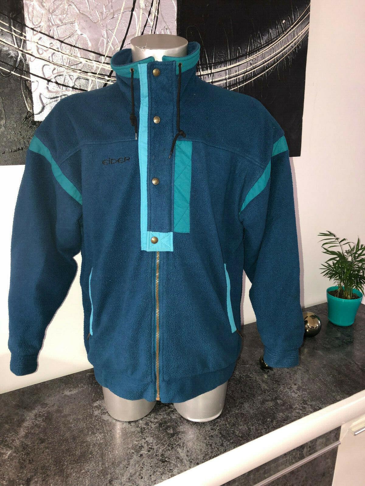 Vest Jacket Turquoise in Polar Fleece Polartec Man Eider Hokkaido Größe 52(XL)