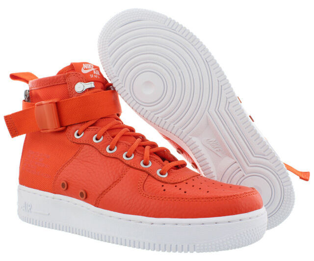 f33881d3 Mens Nike Special Field Air Force 1 Mid Team Orange White 917753-800 ...