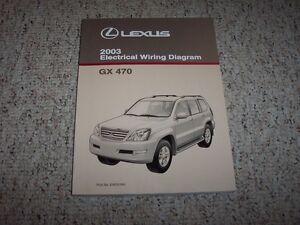 2003 lexus gx470 gx 470 factory original electrical wiring diagram rh ebay com