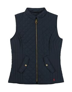 Joules-Minx-Women-039-s-Quilted-Gilet-Marine-Navy-Now-With-30-Off
