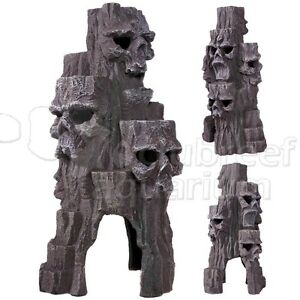Skull mountain swim thru fish cave tall erie resin for Tall fish tank decorations